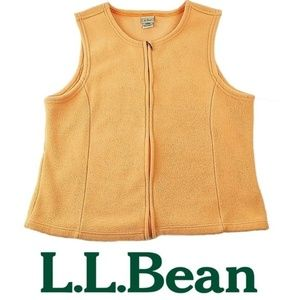 L.L. Bean Stretch Polartec Fleece Vest Full Zip